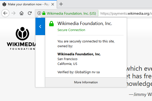 Wikimedia_donation_page_with_extended_validation_certificate_in_firefox